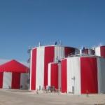 Larg scale biogas plant