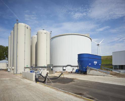 Industrial biogas plants