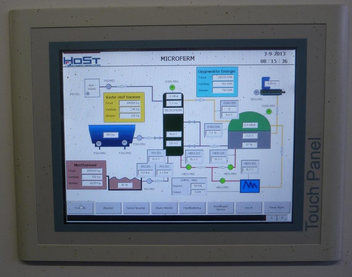 Touch Panel controle Microferm