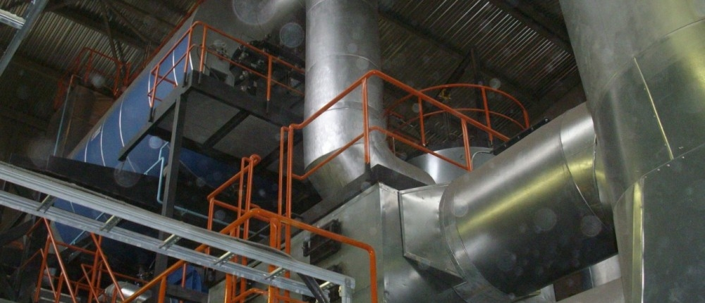 Cylindrical flame tube boiler - HoSt Bioenergy