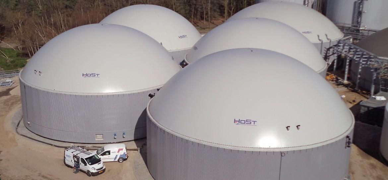Large scale biogas plants