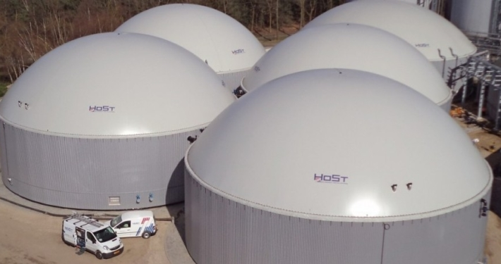 Large scale biogas plants