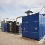 Biogas upgrading island