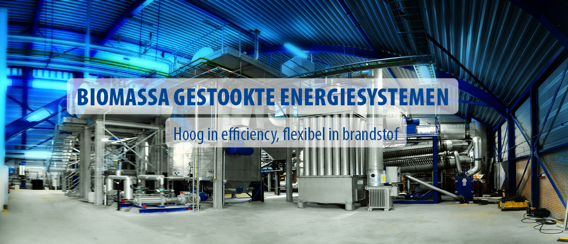 Biomassa gestookte energie installaties