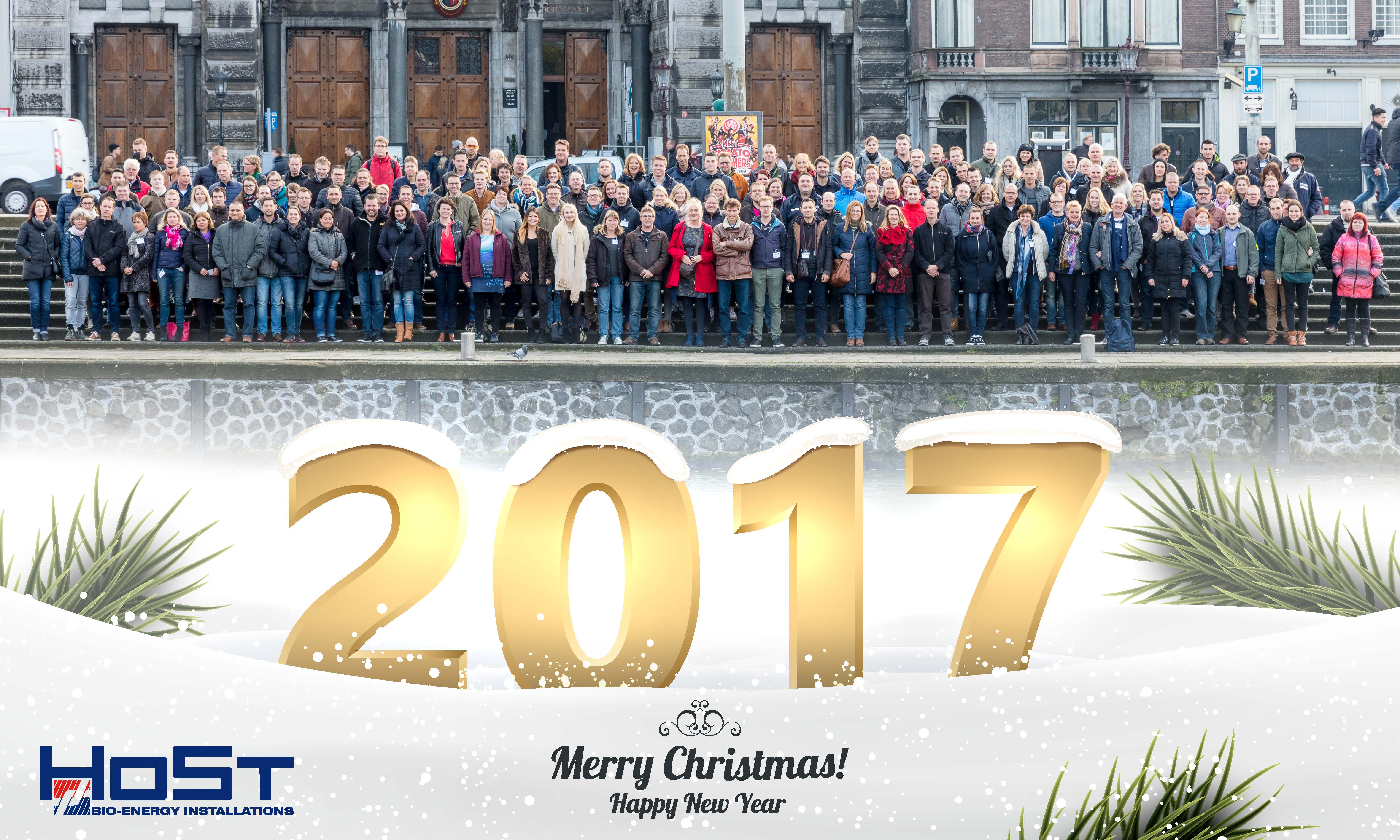 Merry Christmas And Best Wishes For A Happy New Year Host